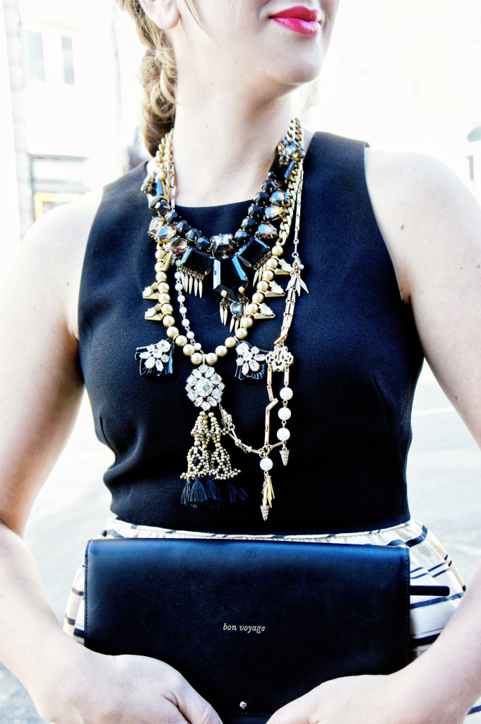 layer necklaces gold j.crew tassel