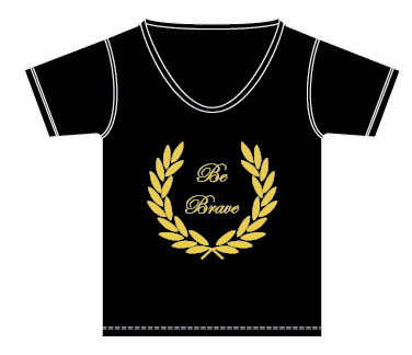 eLUXE tee shirt blogger collection Be Brave Gold Foil