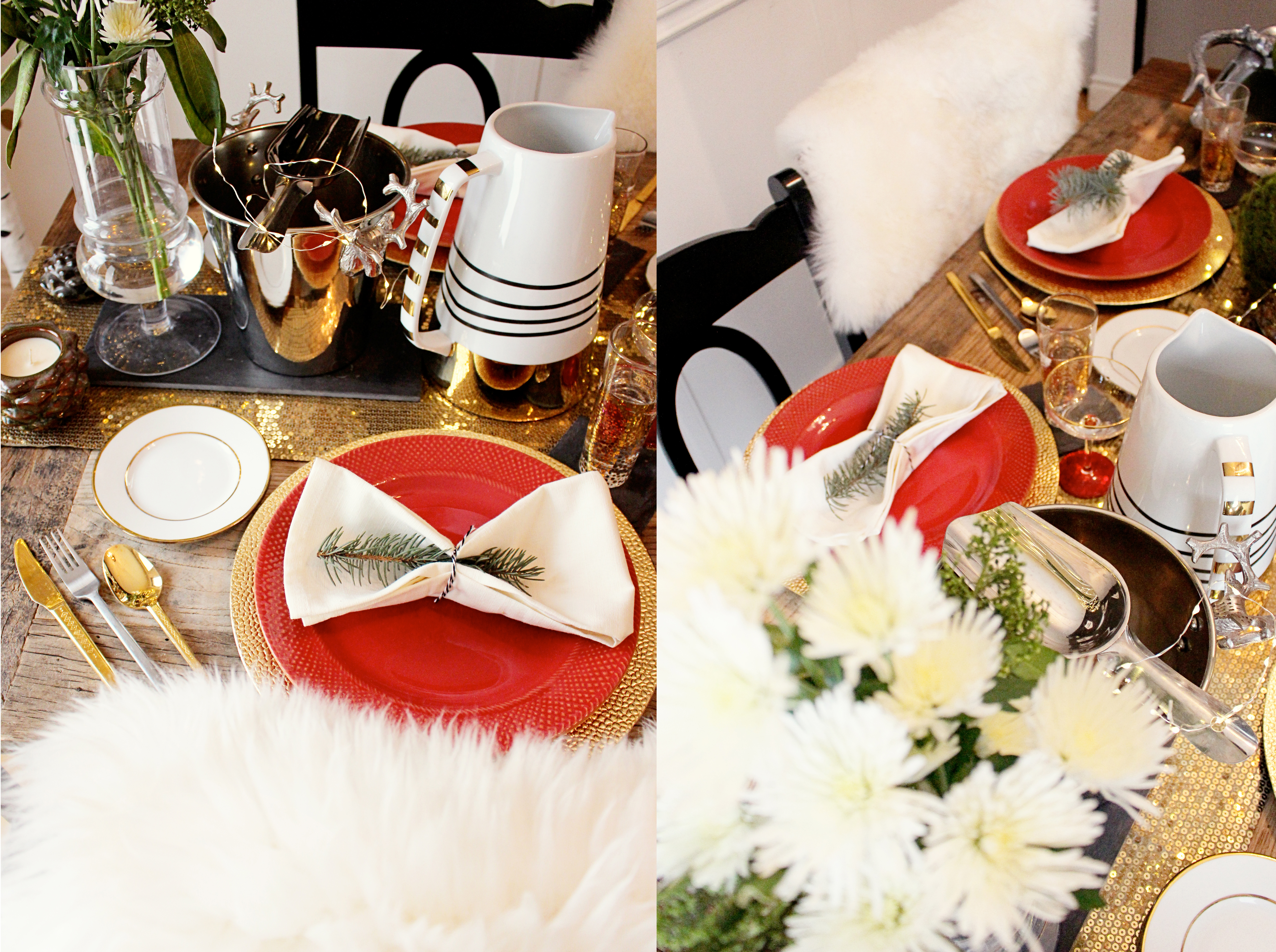 Holiday home tour northern style exposure table setting holiday diy yourself ideas festive table solutioingenieria Images