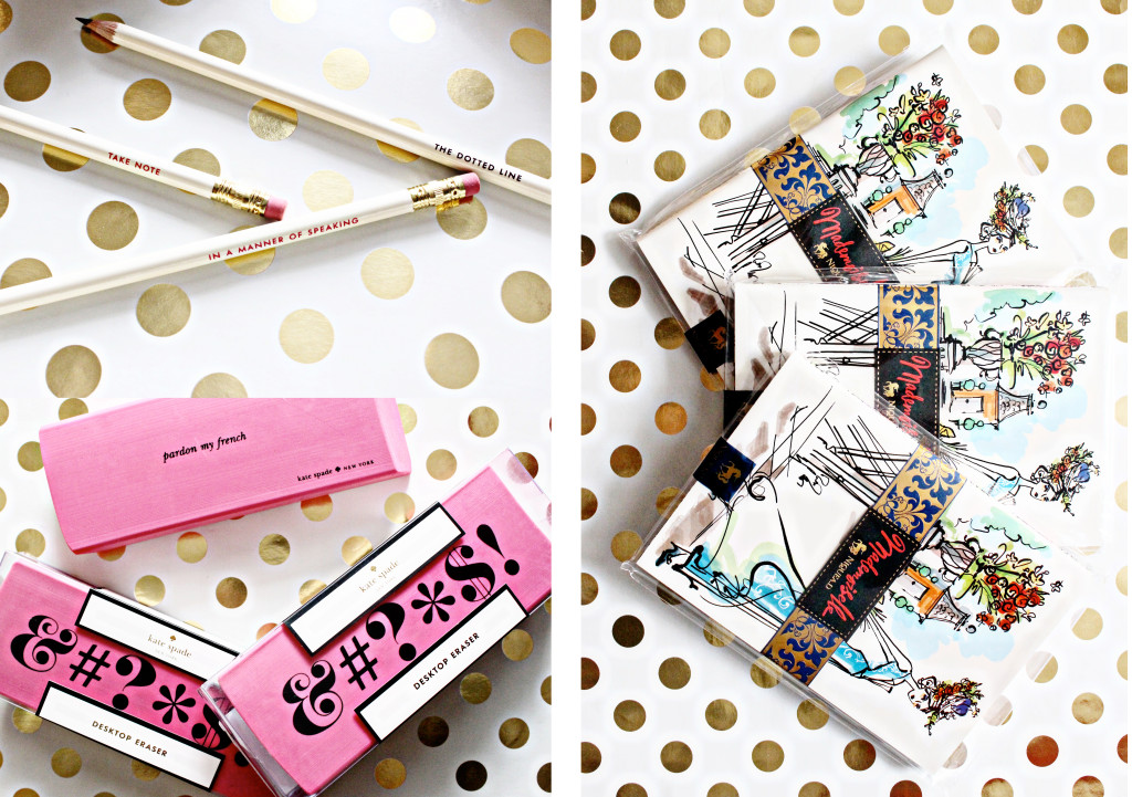 Kate Spade PAPYRUS Feature stationary line for office