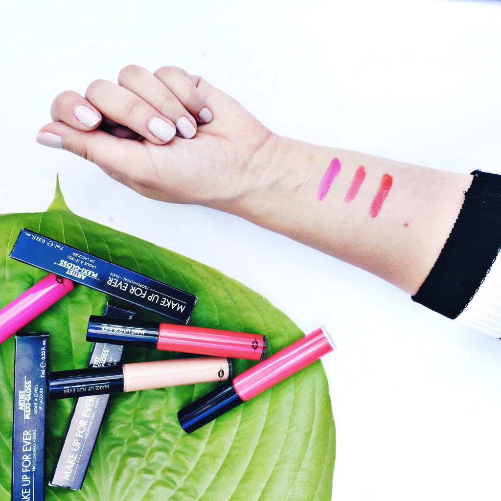 makeup forever gloss swatches review