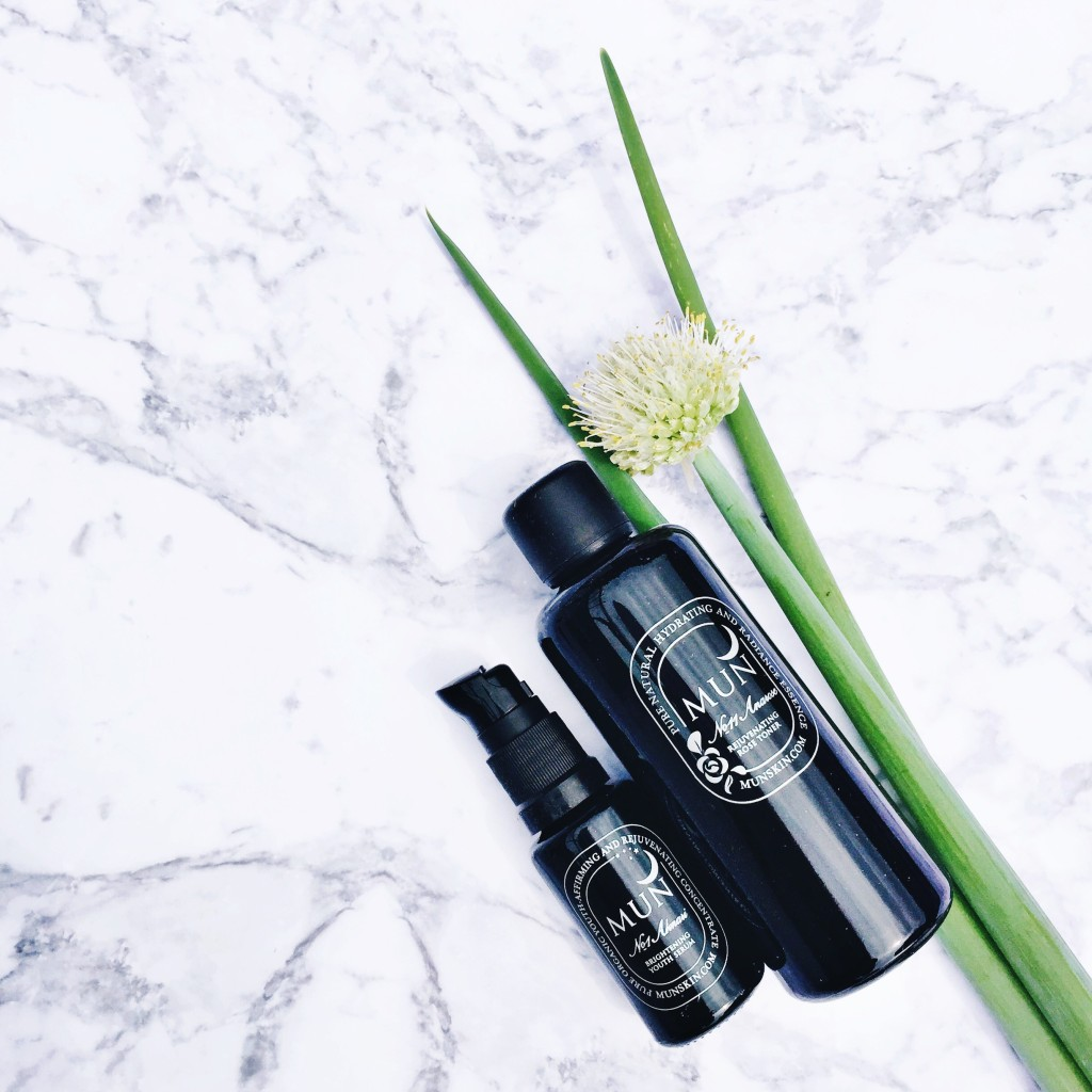 Mun Skin organic beauty product t line