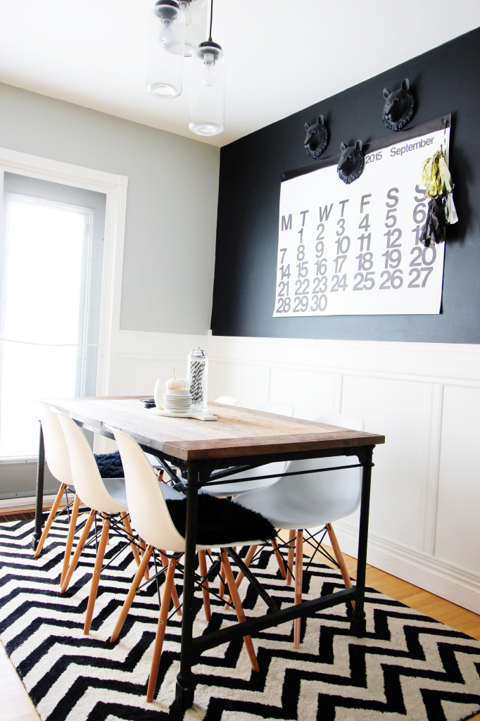 chevron rug, restoration hardware table dining room eases chair large wall modern calendar