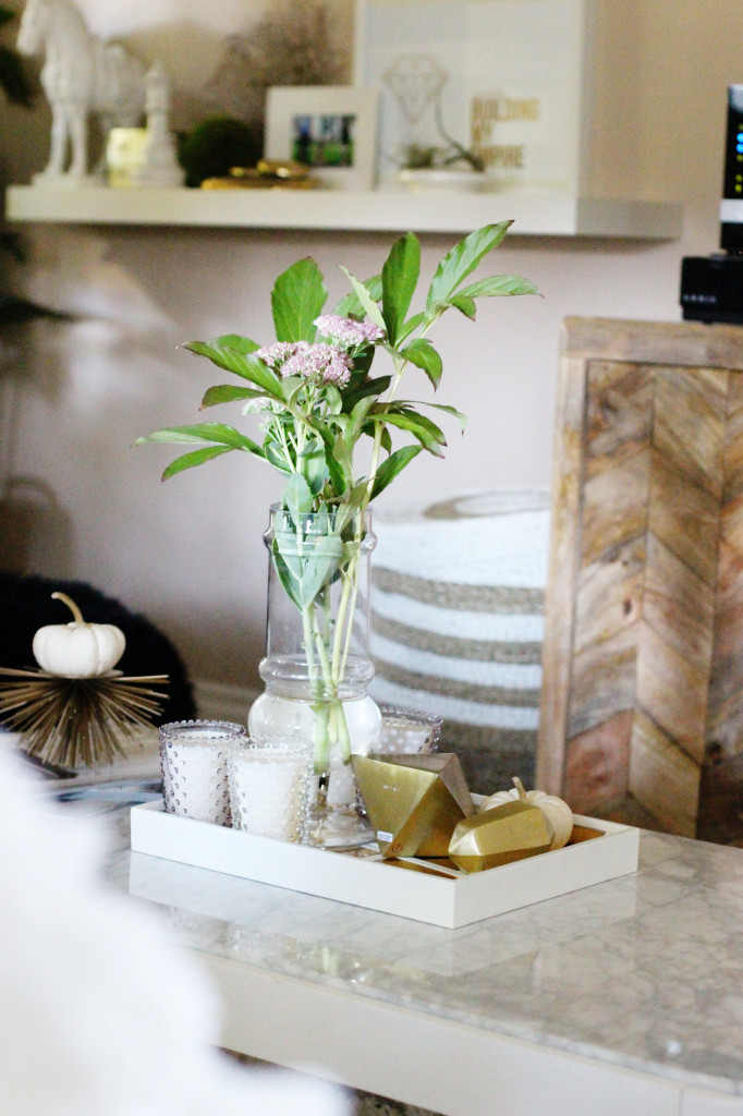 how to decorate a coffee table marble gold sunburst