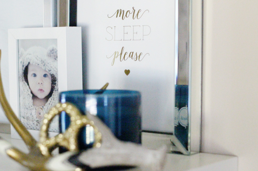 sleep more gold foil print baby