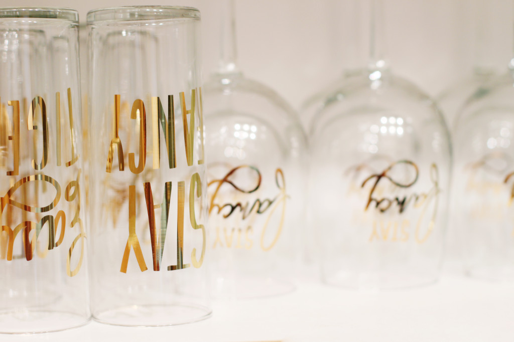 gold foil writing glasses easy tiger co nordstrom home decor