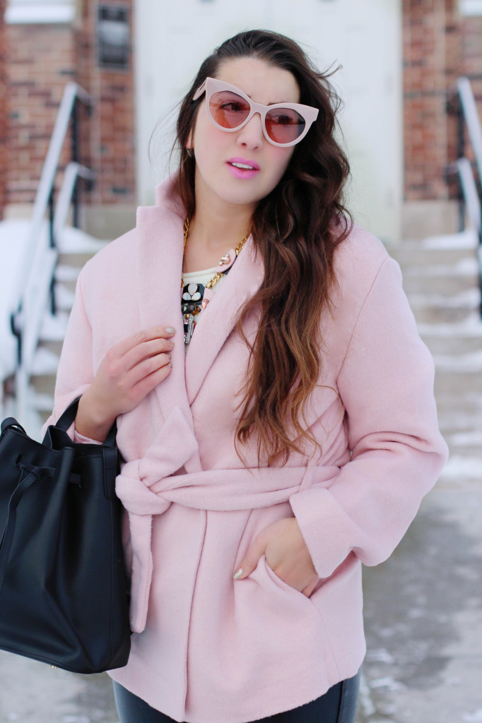 Wnter Style look Northern Style Exposure pb0110 bag Karen walker stardust sunglasses pink