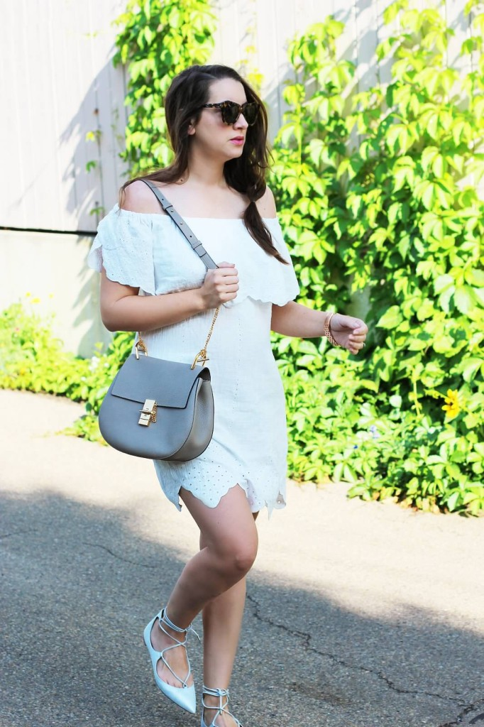 chloe gray grey mushroom drew bag aquazzura flats in silver white maternity look pregnancy style 24 weeks fashion blogger Canadian Kira paran