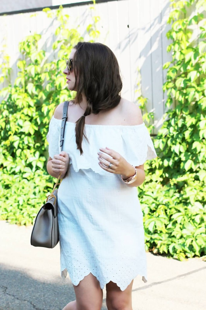 chloe gray grey mushroom drew bag aquazzura flats in silver white maternity look pregnancy style 24 weeks fashion blogger Canadian Kira paran