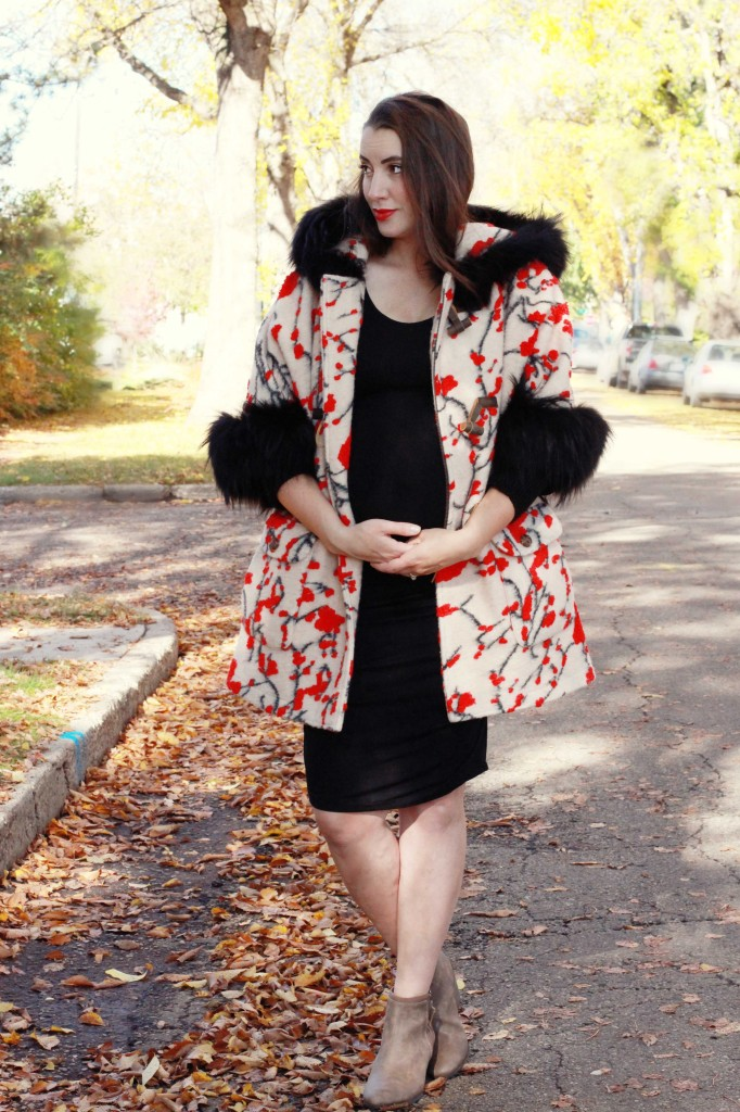 freed coat canadian luxury fur vancouver maternity look style blogger