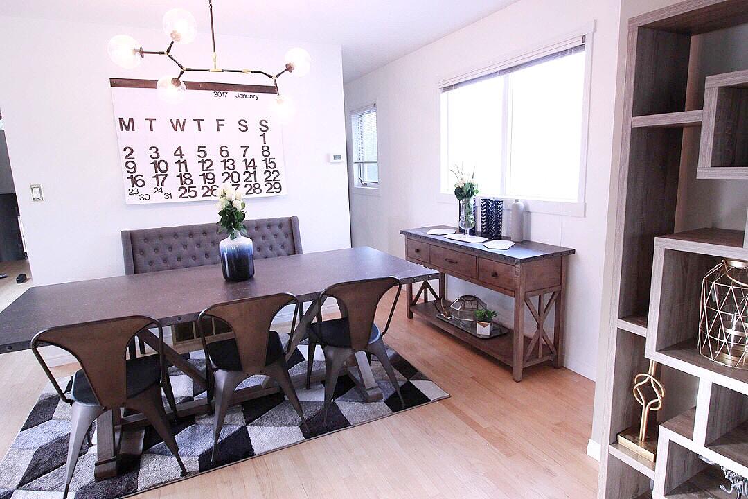 Modern Industrial Home Decor Living Room The Brick Fireplace Stendig Calendar Gal Art Wayfair Abstract