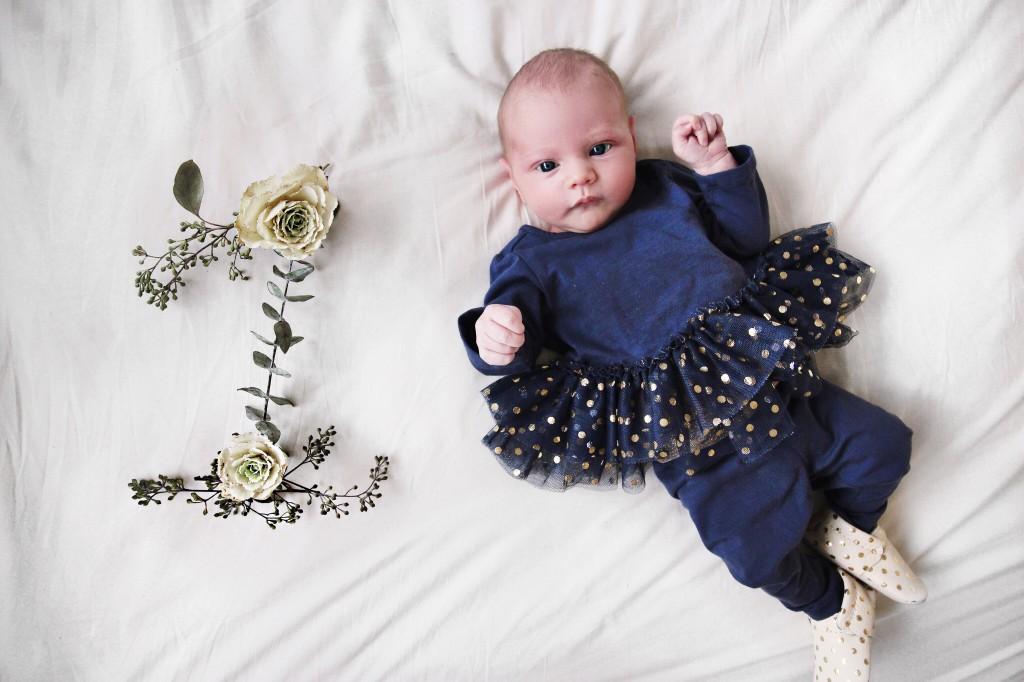 milestone baby photo monthly updates flower girl tutu