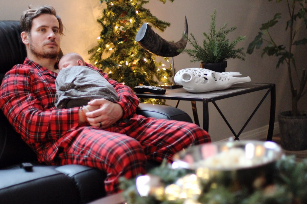 Mancave home decor the brick river recliner old navy plaid matching family christmas pyjamas