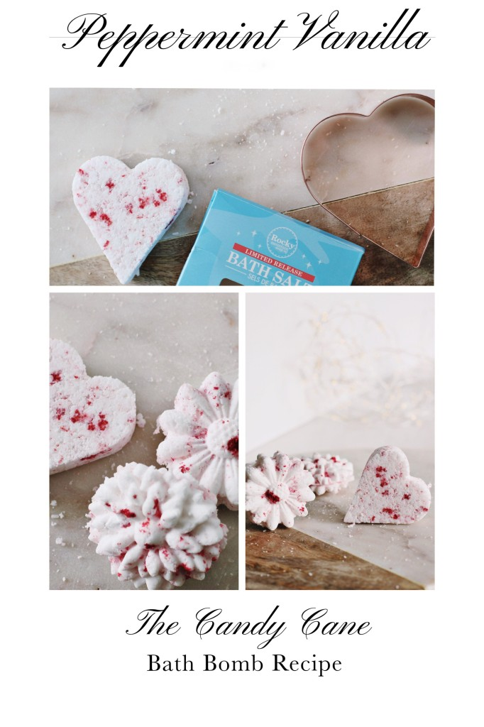 peppermint vanilla bath bomb recipe DIY