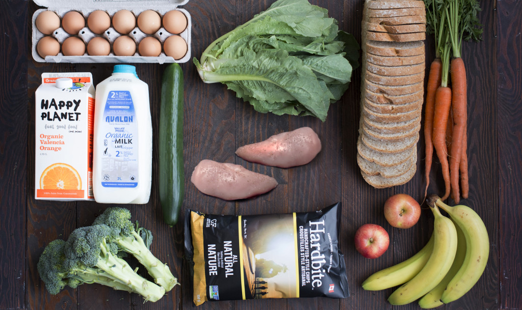 weekly_staples_fromabove organic food flatlay grocery