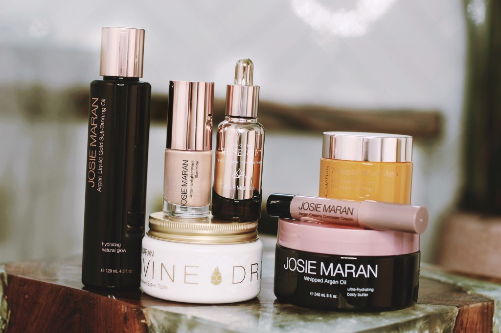 josie Maran sephora beauty products review blogger top picks organ oil infused skincare