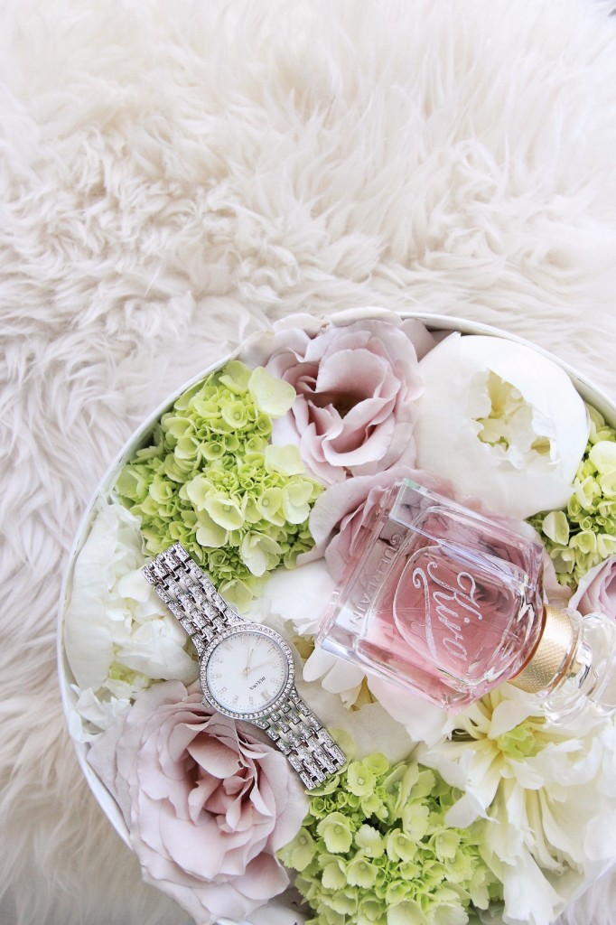 personalized perfume bottle mother's day gift guide ideas crystal watch Edmonton florist flowers