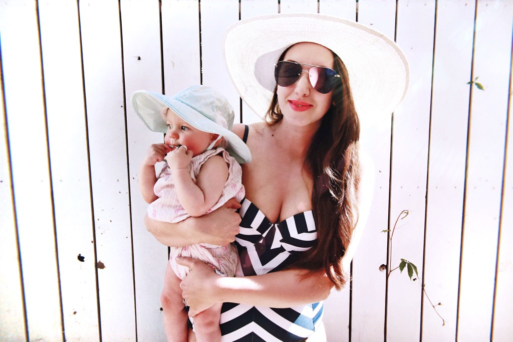 mom style bathing suit le spec sunglasses northern style kira paran