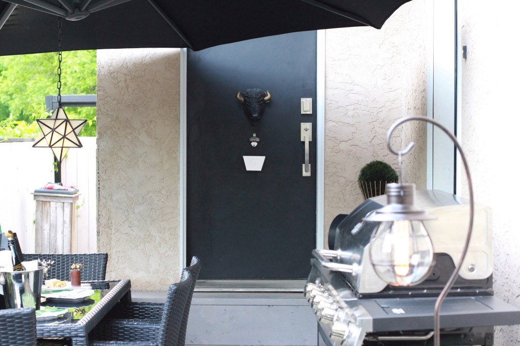 small space patio ideas The brick solar lighting canadian tire blogger topiary black white