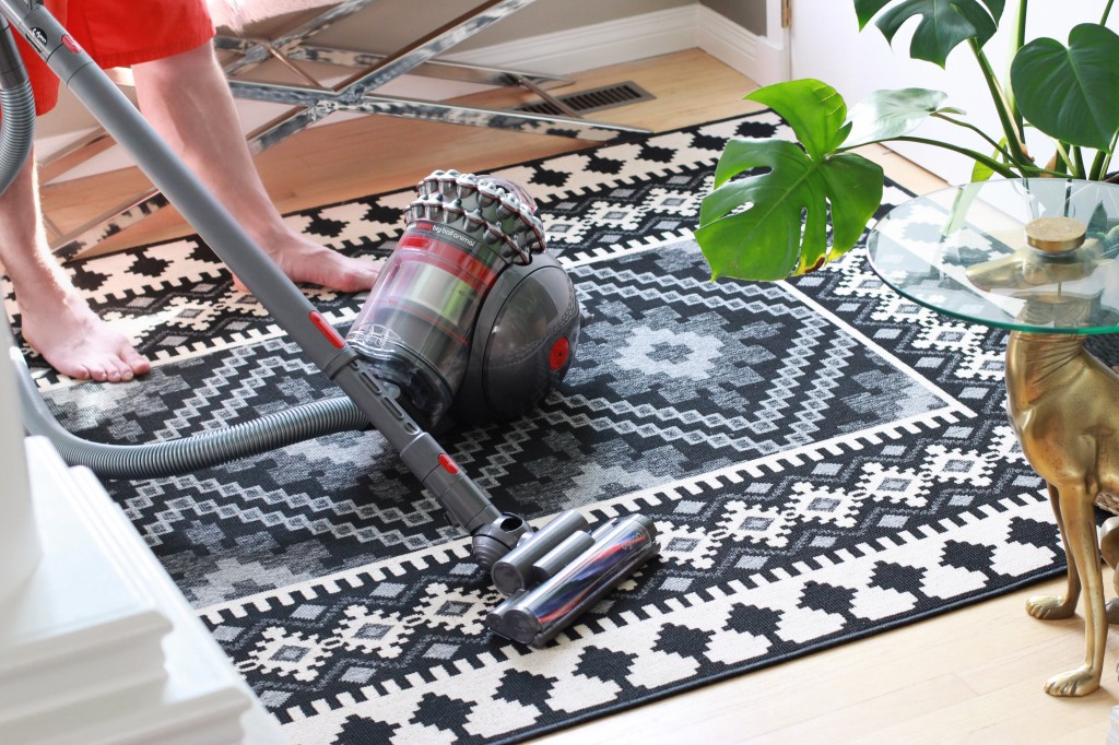 Dyson big ball animal review dad vacuuming vacuum the best home decor canadian blogger dad
