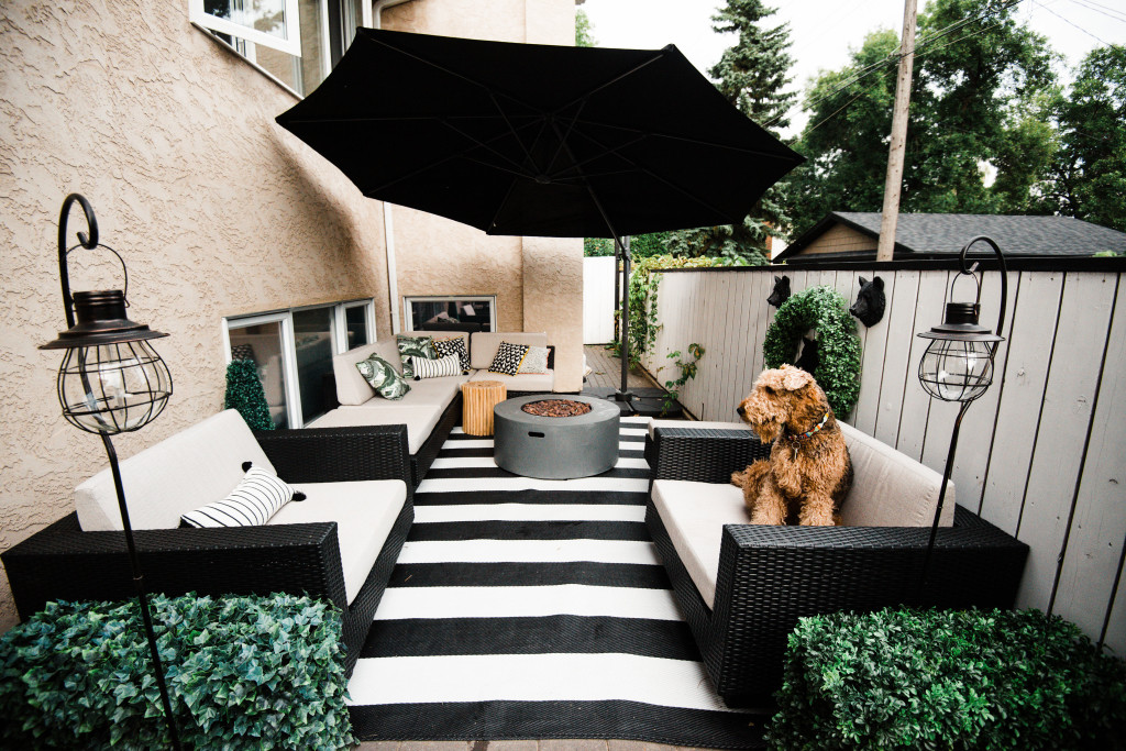 Home || Our Patio Transformation with @TheBrick || Top 3 ... on Black And White Patio Ideas id=23475