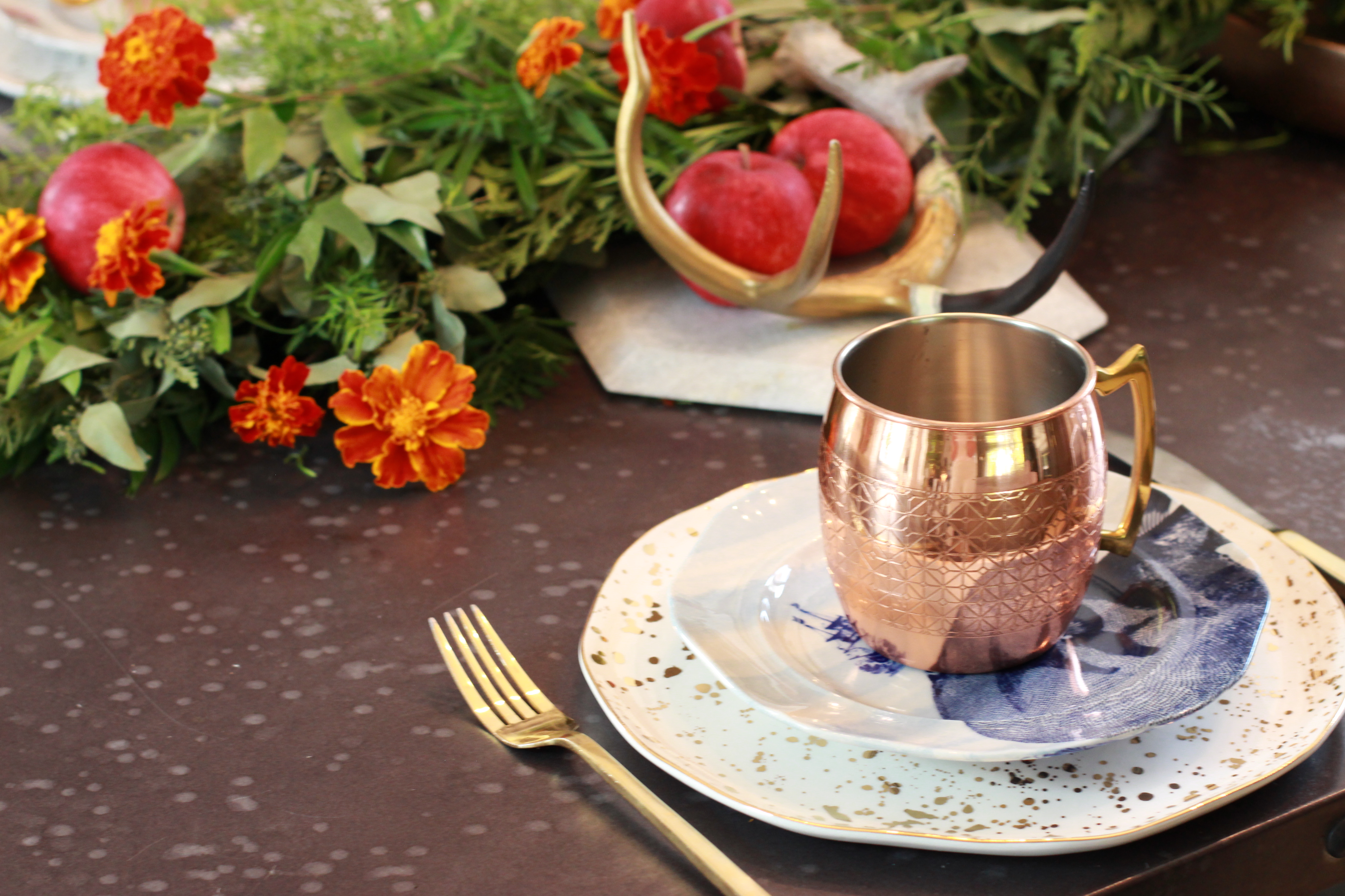 ... fall table setting tablescape home decor style apples & Home Decor #AD || All those Fall feels\u2026 || An Autumn Table Setting ...
