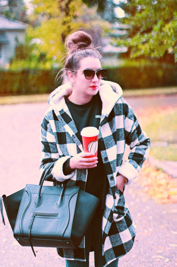 fall is here starbucks fall cups coffee leaves autumn buffalo paid coat jacket style mom candiuan blogger 2017 celine phantom bag street style -08:56:58