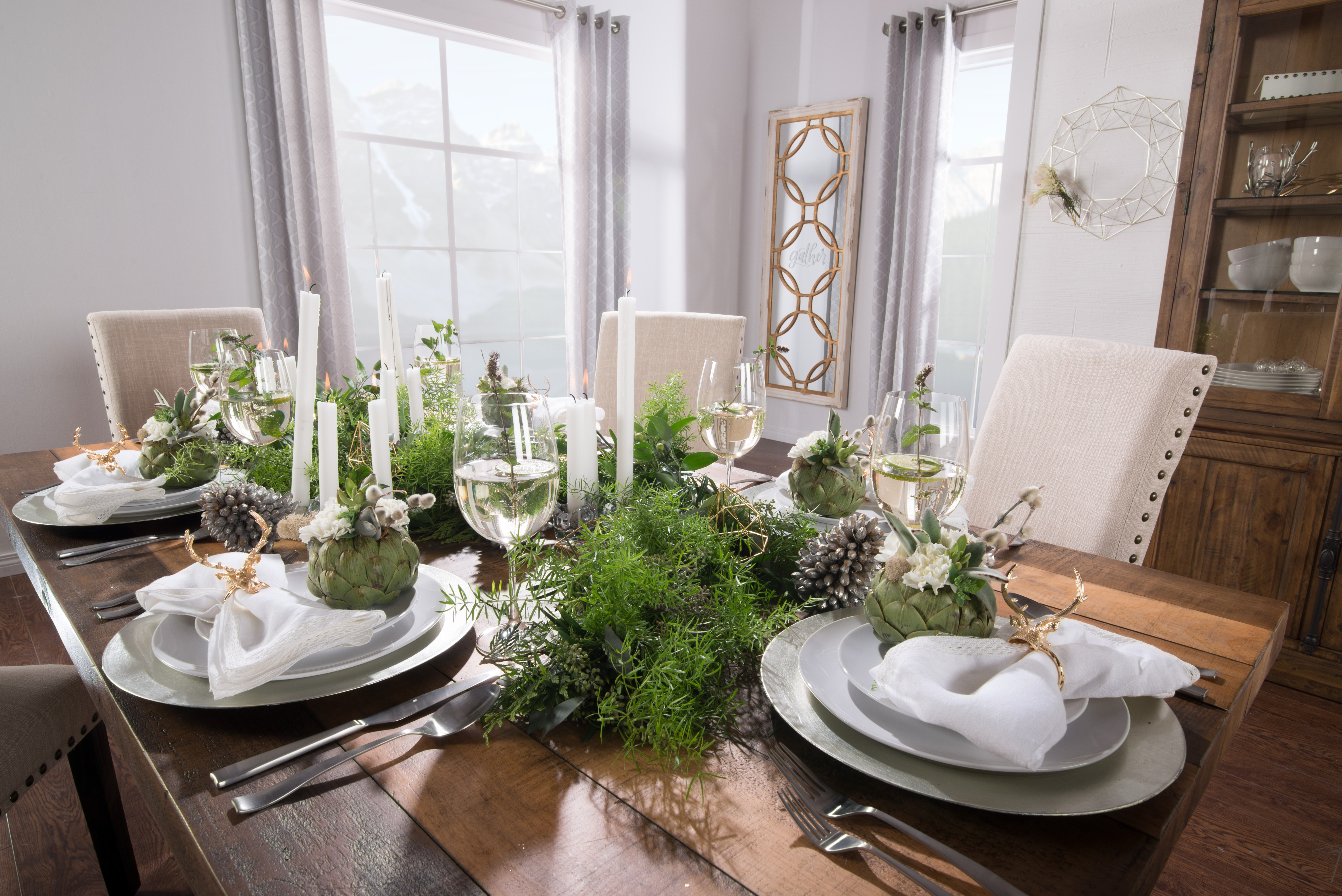 Home Decor Winter Table Setting Inspiration With