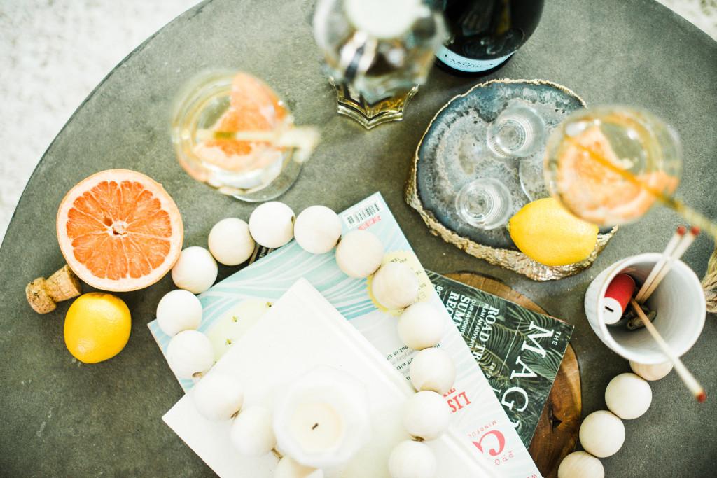 grapefruit prosecco elder flower st germain liqueur cocktail recipe La Marca