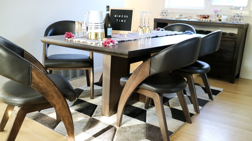 easy brunch hostess ideas modern dining room table set horse picture dining room geometric wall scone
