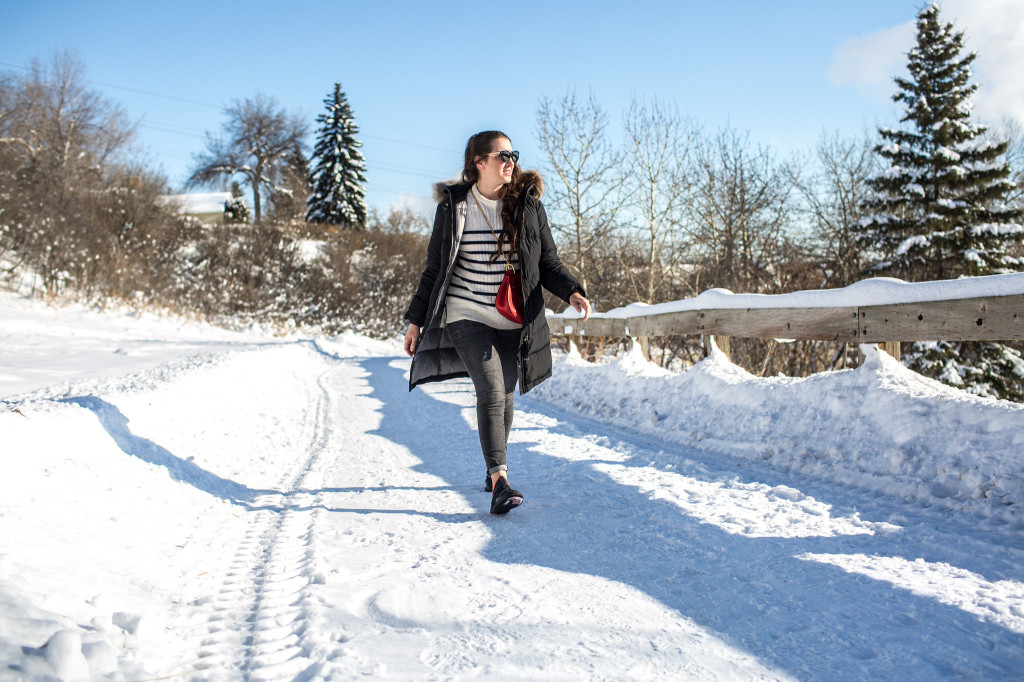 NS-Parajumpers Top best designer parka Canada Canadian blogger chloe drew red bag style gap love gap skinny high rise jean edmonton capilano bridge discover alberta YEG