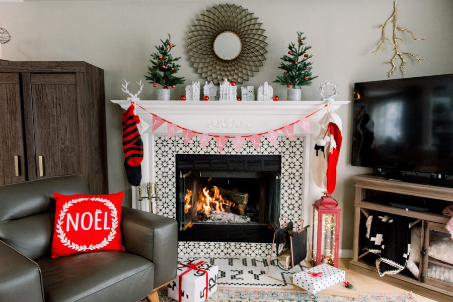 christmas decor mantel holiday style Canadian Tire